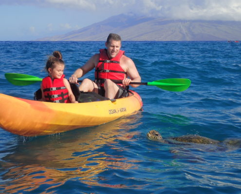 Kayak with Turtle Makena