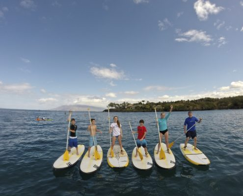 Family SUP Makena Maui